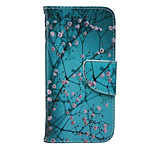 Plum Flower Pattern PU Leather Material Phone Case for iPhone 6/6S