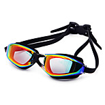 Swimming Goggles Unisex Waterproof Silica Gel PC White / Black / Dark Blue Red / Black / Blue / Dark Blue / Purple