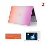 2016 Top Selling Rainbow PVC MacBook Case with Keyboard Cover and Screen Flim for  MacBook Pro 13.3 inch