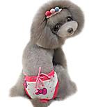 Dog Pants Red Spring/Fall Polka Dots / Bowknot Fashion