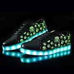 Women's LED Shoes USB charging Synthetic Fashion Sneakers Athletic/Casual Black