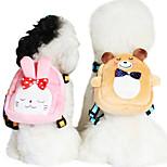 Dog Harness / Backpack Adjustable/Retractable / Cartoon Design Red / Green / Blue / Pink Sponge