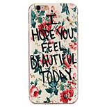 Flowers Letters Pattern TPU Soft Case Phone Case for iPhone 6/6S