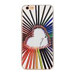colorato modello di amore TPU caso cassa del telefono per il iphone 6 più / 6S più