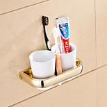 Suporte para Escova de Dentes / Gadget de Banheiro Ti-PVD De Parede 7.9*3.7*1.1 inch Latão Neoclássico