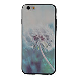 Dandelion Black Edging Soft TPU Phone Case for iPhone 6/6S