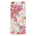 Rich pink diamond flower phone shell painted reliefs apply iPhone6/6s
