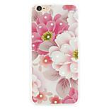 rico rosa flor de diamante shell telefone relevos pintados aplicar iphone6 / 6s
