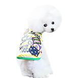 Hunde T-shirt Rosa / Gelb Sommer Jeans / Buchstabe & Nummer Modisch