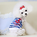 Dog Shirt / T-Shirt Red / White / Blue / Pink Summer Fashion