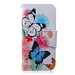 Butterfly Pattern PU Leather Material Phone Case for iPhone 6 Plus/6S Plus
