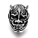 Ring Non Stone Skull Others Unique Design Fashion Halloween Party Daily Casual Sports Jewelry Steel Men Ring 1pc,8 9 10 11 Black