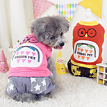 Dog Coat / Clothes/Jumpsuit Blue / Orange Spring/Fall Cartoon Fashion