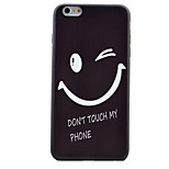Smile Black Edging Soft TPU Phone Case for iPhone 6/6S