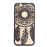 Retro Campanula Pattern Openwork Relief Printing PC Material Phone Case for iPhone 6 PPlus /iPhone 6S Plus