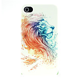Lion Head Pattern Hard Case for iPhone 4/4S