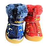 Dog Socks & Boots Red Shoes / Black Winter Fashion