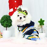 Dog Coat Yellow / Dark Blue Winter Fashion