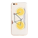 Orange Bike Pattern TPU Soft Case Phone Case for iPhone 6/6S