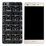 Elephant Pattern Mobile Shell Transparent TPU Soft Shell Protective Sleeve for Huawei P8 Lite