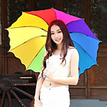 The Rainbow Umbrella Folding Umbrella Uv Protection Random Color