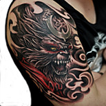 Waterproof Temporary Tattoos Large Arm Fake Transfer Tattoo Stickers Sexy Spray