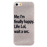 Silver Stars Pattern TPU Soft Case Phone Case for iPhone 5/5S