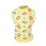 Dog Shirt / T-Shirt Green / Yellow Spring/Fall Fashion