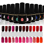 Newest Popular Top Fashion  Soak-off UV & LED Gel Polish (15ml,1-24 Colors)