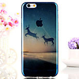 Lucky Deer Legend Forest Glitter Semitransparent Soft Back Case Cover for iPhone 6s Plus /iPhone 6 Plus