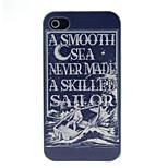 ein Boot Mann Muster harter Fall für iphone 4 / 4s