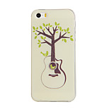 Guitar Trees Pattern TPU Soft Case Phone Case for iPhone 5/5S