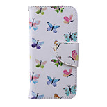 Multi Butterfly Pattern PU Leather Material Phone Case for iPhone 6/6S