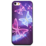 Butterfly Pattern Black TPU Soft Case Phone Case for iPhone 5/5S