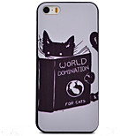 Cute Cat Pattern Black TPU Soft Case Phone Case for iPhone 5/5S