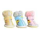 Dog Socks & Boots Blue / Pink / Yellow Winter Fashion