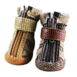 Dog Socks & Boots Brown Winter Fashion