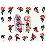 10PCS 3D Water Transfer Red Peony Flower Nail Art Sticker DIY Decoration  Nail Tools Nail Tips BLE856D