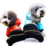 Dog Rain Coat Red / Blue Summer Fashion