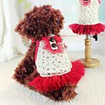 Perros Vestidos Rojo Primavera/Otoño Moda