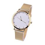Fashion Geneva watches men women Yellow Gold stainless steel Belt quartz wrist watch
