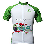 JESOCYCLING Women's  100% Polyester Breathable Short Sleeve Cycling Jersey