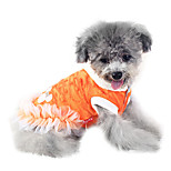 Dog Coat White / Orange Winter Fashion