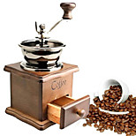 ALL BLUE High Quality Manual Coffee Machine Grinder Retro Classic Coffee Mill Vintage Wooden Hand Crank