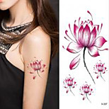 Halloween 1PC Lotus Flower Waterproof Tattoo Sticker