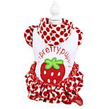 Dog Coat / Hoodie Red Winter Fruit / Polka Dots Fashion / Keep Warm