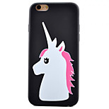 Pony Butterfly Pattern TPU Material Phone Case for iPhone 6 Plus/6S Plus