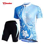 Cuissard  / Short / Mailliot(Blanc) deCyclisme/Vélo-Respirable / Séchage rapide / mèche / La peau 3 densités / Bandes Réfléchissantes /