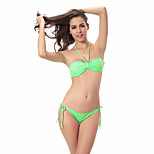 2016 Women Bikini Set Removable Neck Halter Vintage Butterfly Top Bandage Strappy Push Up Triangle Swimwear S.M.L. V030