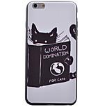 caso bordo nero gattino morbido telefono TPU per il iPhone 6 / 6S